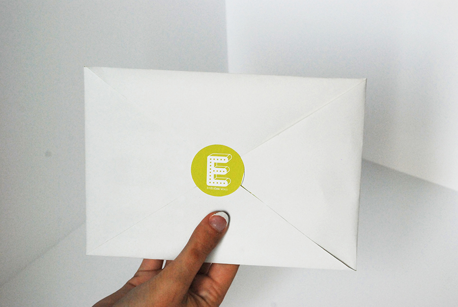 Design of the invitation for the Packaging exhibition 2011: Emballez-vous ! Ecological concept: the envelope and invitation are made with the same recycled piece of paper.