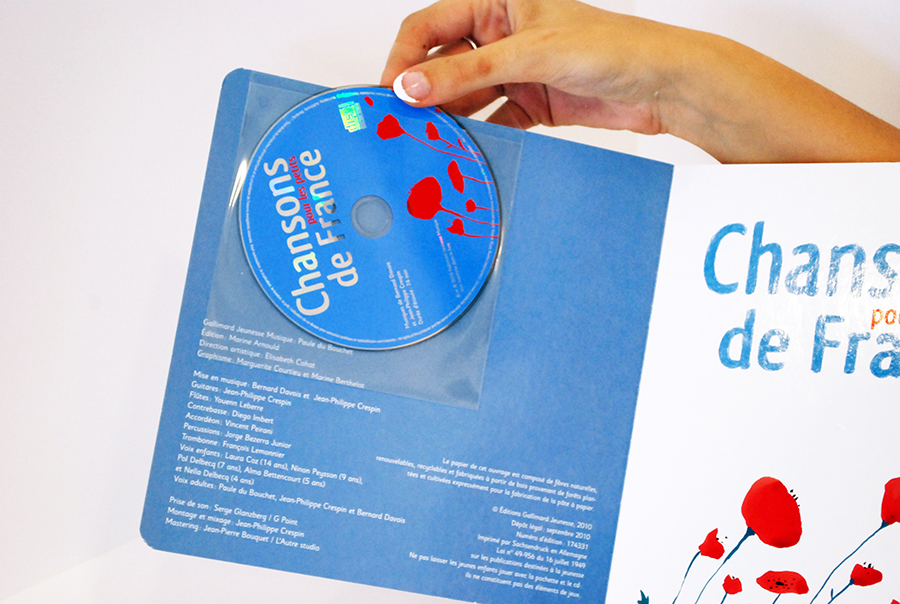 Graphic creation of the CD visual and use of PANTONES colors specialized for CD impression.
